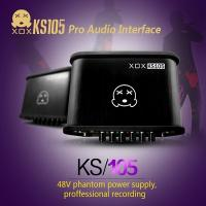 China XOX KS105 External USB Sound card with 48V Phantom Power Supply 3.5mm jack on sale