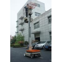 China One Man Mast Type Electric Aerial Work Platform Order Picker For Warehouse wholesale