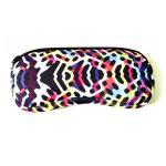 China Portable Travel Zipper Soft Neoprene Sunglasses bag.SBR Material. Size is 19cm*8.7cm. wholesale