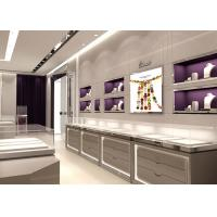 China Contemporary Gray Color Jewelry Display Cases Full Assembly Structure wholesale