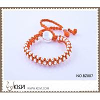 China Hot Selling Handmade Bracelet in Orange Colour BZ007 wholesale