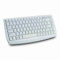China 2.4GHz Wireless Keyboard with Mini Nano Receiver and Comfortable Chocolate Keys Design wholesale