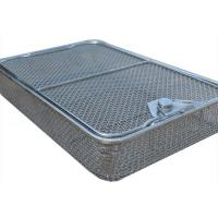 China 45*34cm Medical sterilization baskets Stainless Steel Wire Mesh 5mm Hole size wholesale
