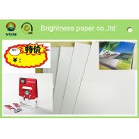 China Printable A4 Glossy Sticker Paper , Glossy Magazine Paper Customized Size wholesale
