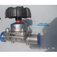 Quality Fully Stocked Sanitary 316L Stainless Steel Manual/ Pneumatic Diaphragm Valve Diaphragm Valve with Drain for sale