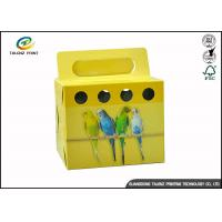 China Colorful Printing Cardboard Gift Boxes Foldable Space Saving For Birds wholesale