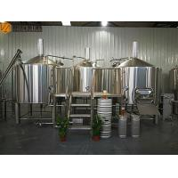 China 2000 L Beer Brewing System Microbrewery Equipment With Steam Heating System wholesale
