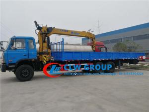 China Dongfeng 6x4 8.5M Fence Truck With 10T Straight Arm XCMG Crane wholesale