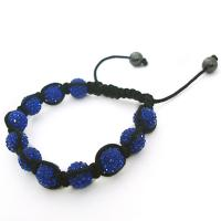 China OEM / ODM custom design blue 10mm / 12mm crystal beaded bracelet CJ-B-175 wholesale
