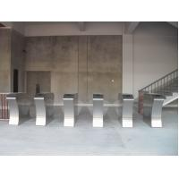 Quality RS485 flap barrier 304 stainless steel security gate barrier for indoor / for sale