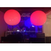 China Standing Inflatable Lighting Balloon PVC 1.5m Inflatable LED Balloon 15kg wholesale