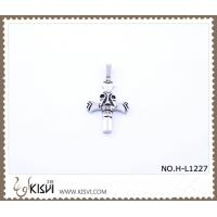 China Hot sell 316 Stainless Steel Cross & Death's-Head Pendant H-L1227 wholesale