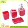 China Bathroom Supplier Square Shape Useful Hotel Decorative Bath Set wholesale