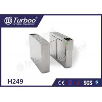 China Flap Turnstile Security Gate CE Approved Biometric And RFID Reader Control on sale