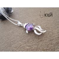 China 2012 new style Fashion Jewelry 925 Sterling Silver Gemstone Pendant with Zircon W-VB903 wholesale