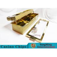 China Double-Layer Metal Chip Tray / Poker Chip Holder 680 * 210mm wholesale