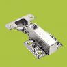 China free samples cabinet hardware soft closing hydraulic hinge with Nickel finish wholesale