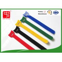 Buy cheap 160 * 12mm colored hook and loop cable ties with small hole Heat resistance product