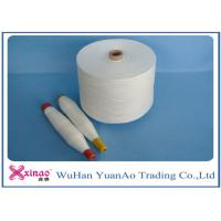 China 100% Spun Polyester Weaving Yarn Raw White Color High Strength For Sewing wholesale
