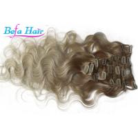 China Brazilian Body Wave Remy Clip In Hair Weave Colored Ombre Hair Extensions wholesale