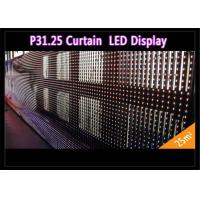 China Transparent See - Through Curtain IP 65 , Rental LED Media Facade for Advertising wholesale