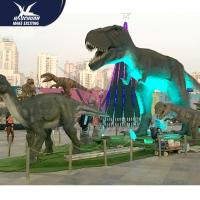 China Outdside Theme Park Realistic Dinosaur Statues / Life Like Garden Animals wholesale