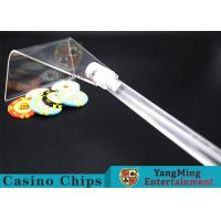 China Adjustable Casino Game Accessories Poker Chip Rake Built - In Detachable Design wholesale