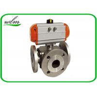 Quality Light Weight Sanitary Ball Valves Aluminum Pneumatic Actuator , Flanged for sale