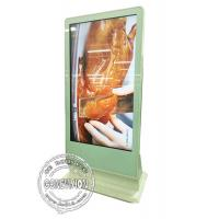 China 65inch Touch Computer Kiosk Wifi Digital Signage Floor Standing Touch Monitor with HDMI in, Media Player Box Inbuilt wholesale