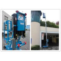 China Blue Vertical Single Mast Lift 8 Meter Working Height For Factory Working wholesale
