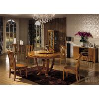 China Wooden dining set furniture round table/ wine cabinet/dining cabinet wholesale