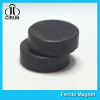 China Y30BH Disc Shape Ferrite Magnet , Round Disk Magnets Dia 18mm * 5mm wholesale