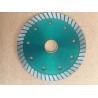 China Green 110mm Turbo Diamond Saw Blade , Circular Saw Masonry Diamond Cutting Blade wholesale