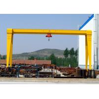 China MH Single Beam Adjustable Gantry Crane With Electric Hoist For Stone Marble Handling wholesale
