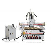 China Woodworking vacuum bed cnc router machine , 1325 auto matic tool change cnc router with three spindles wholesale