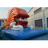 China Giant Goldfish Inflatable Water Slide Commercial With Bule Mat For Park wholesale