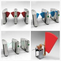 China RFID Turnstiles Flap Gate Barrier , Automatic Optical Turnstile Access Control wholesale