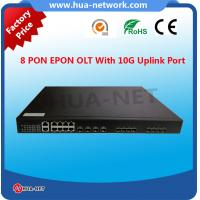 Buy cheap 1U Metal Black BDCOM OLT 8 PON Ports 10G EPON/GEPON Layer 3 OLT with free NMS at competitive price product