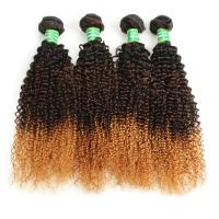 China Wholesale 8A Grade Ombre 3 Color Curly Brazilian Hair Weft wholesale