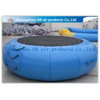 China Exciting Inflatable Water Game / Rave Sports Water Trampoline Blue Color wholesale