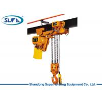 China 7.5 Ton Professional Electric Lifting Hoist , Chain Block Hoist Waterproof Push Botton wholesale