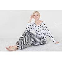 China Comfortable Dotted Womens Pyjama Sets Long Sleeve Top And Pants Soft Handfeel wholesale