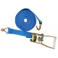 China Lashing Belt Ratchet Tie Down Straps With Hooks Wear Resistant Blue Color wholesale