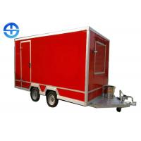 China Mobile Food Cart Trailer / Street Food Cart OEM Customized ISO Approved on sale