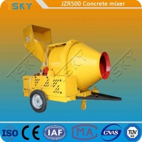 China Hydraulic Tipping Type JZR500 Diesel Engine Concrete Mixer wholesale