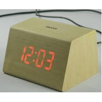 Quality LED Wooden Digital Table Clock with Touch Function for Snooze for sale