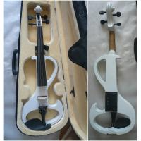 Quality White Melodie Solid Basswood Electric Violins Full Size Junior Student Violin for sale