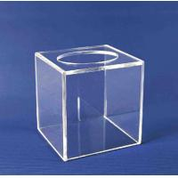 China Acrylic Storage Boxe , Clear Acrylic Suggestion Box 5mm x 150mm x150mm wholesale