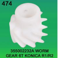 China 355002232A / 3550 02232A WORM GEAR TEETH-6 FOR KONICA R1,R2 minilab wholesale