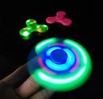 LED Light Hand Finger Spinner Fidget Plastic EDC Hand Spinner For Autism and